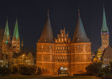 Holsten Gate, Lübeck, Schleswig-Holstein, Germany Stock Photos