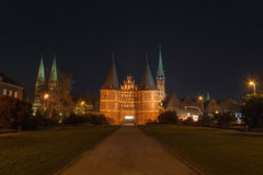 Holsten Gate, Lübeck, Schleswig-Holstein, Germany Stock Photo