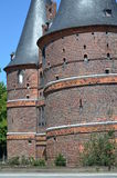 Holsten Gate, landmark of the Hanseatic city of Lübeck Royalty Free Stock Image