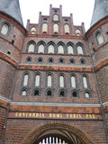 Holsten gate in Lubeck. Front of the Holsten gate in Lubeck, Germany Stock Photo