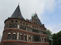 Holsten gate in Lubeck. Front of the Holsten gate in Lubeck, Germany Stock Image