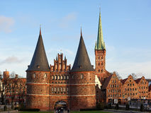 The Holsten Gate in Lubeck, Germany Stock Image
