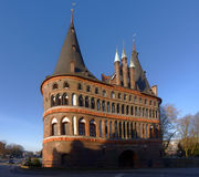 Holsten Gate in Lubeck, Germany Royalty Free Stock Image
