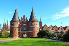 Holsten Gate, Lubeck, Germany Royalty Free Stock Photography