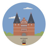 Holsten Gate. Lubeck Royalty Free Stock Image