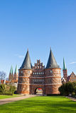 Holsten Gate in Lubeck old town, Germany Stock Images