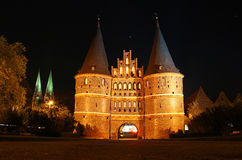 Holsten Gate, Lubeck old town, Germany Stock Photography