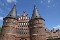 Holsten Gate of Lubeck Stock Photo