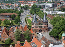 The Holsten Gate in Luebeck Stock Photo