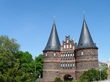 Holsten Gate Luebeck Stock Image