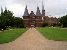 Holsten gate Luebeck. Luebeck, Germany 2008 Royalty Free Stock Photography