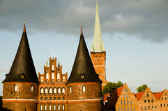 Holstentor City Gate - Lubeck - Germany Stock Images