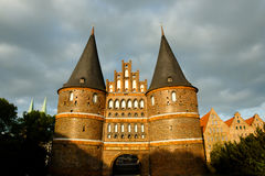 Holstentor City Gate - Lubeck - Germany Royalty Free Stock Photos