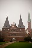 The Holstentor city gate in Lubeck Royalty Free Stock Photography
