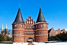 Holstentor in Luebeck Stock Photo