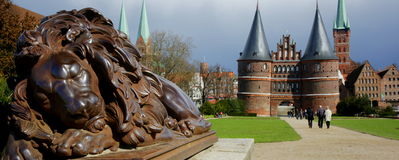 Holstentor Gate Royalty Free Stock Photo