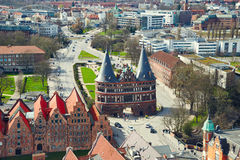 Holstentor Gate in Lubeck old town. Germany Royalty Free Stock Photography