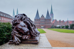 Holstentor Gates in Lubeck. Germany Royalty Free Stock Images