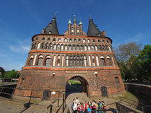 Holstentor (Holsten Gate) in Luebeck Stock Images