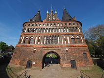Holstentor (Holsten Gate) in Luebeck Royalty Free Stock Photography