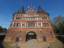 Holstentor (Holsten Gate) in Luebeck Stock Photography