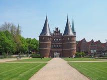 Holstentor (Holsten Gate) in Luebeck Royalty Free Stock Image