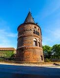 Holstentor (Holsten Gate) in Luebeck hdr Stock Images
