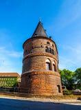 Holstentor (Holsten Gate) in Luebeck hdr Stock Image