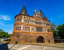 Holstentor (Holsten Gate) in Luebeck hdr Royalty Free Stock Photos