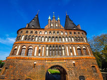 Holstentor (Holsten Gate) in Luebeck hdr Royalty Free Stock Images