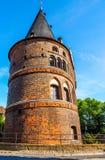 Holstentor (Holsten Gate) in Luebeck hdr Stock Photography
