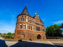 Holstentor (Holsten Gate) in Luebeck hdr Stock Photo