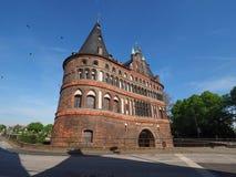 Holstentor Holsten Gate in Luebeck Stock Images