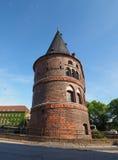 Holstentor (Holsten Gate) in Luebeck Stock Photos