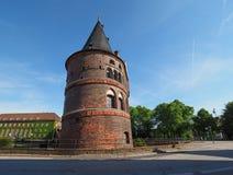 Holstentor (Holsten Gate) in Luebeck Stock Photo
