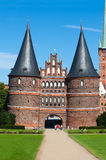 Holstentor lubeck. The old gate in lubeck holstentor Royalty Free Stock Images