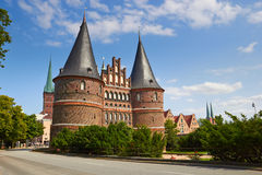 Holstentor in Lubeck, Germany Royalty Free Stock Photos