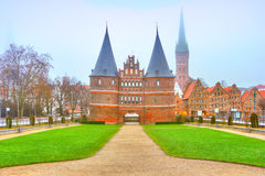 Holstentor in Lubeck. Germany Stock Images
