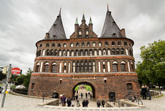 Holstentor in Lubeck Stock Photography