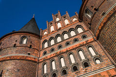 Holstentor Luebeck detail Stock Photos