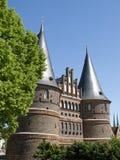 Holstentor in Luebeck, Germania Fotografie Stock Libere da Diritti
