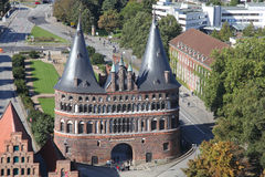 The Holstentor of Luebeck Stock Images