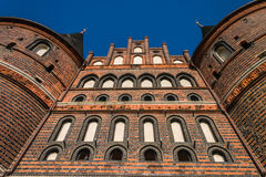 Holstentor Luebeck from underneath Royalty Free Stock Images