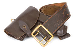 Holster. Army holster isolated on white Royalty Free Stock Image