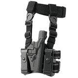 Holster ammunition police. Holster black plastic ammunition for police. 3D graphic Stock Photography