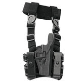 Holster ammunition security, side view. Holster on belt ammunition for security, side view. 3D graphic Stock Photography