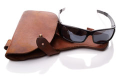 Holster and black glasses Stock Image
