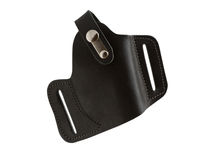 Holster for carrying a pistol. Stock Image