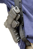 Holster with gun. Stock Photos