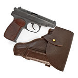 Holster and pistol Stock Image